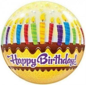 "Bubble Happy Birthday Velas 22""56cm"