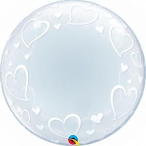 """Bubble Corações 24""""61cm"""