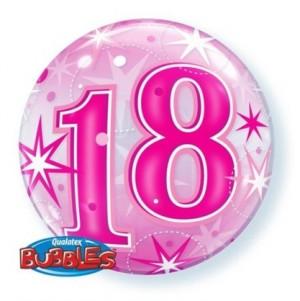 """Bubble 18 Anos Rosa 22""""56cm"""