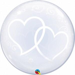 """Bubble 2 Corações 24""""61cm"""