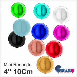 "10 Balões Redondos de 4""10cm Grabo"