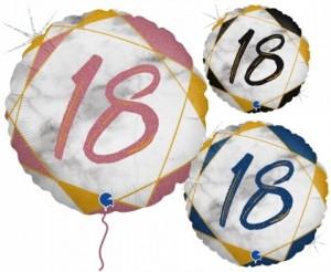 Balão Redondo 18 Marmore 46cm