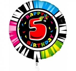Balão 5º Aniversário redondo 53Cm