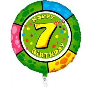 Balão 7º Aniversário redondo 53Cm
