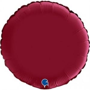 Balão Redondo Cetim 46cm Ruby