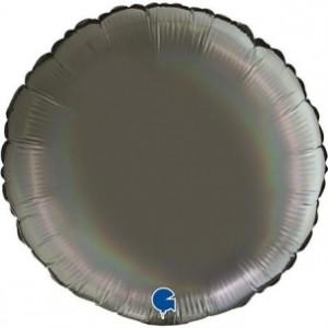 Balão Redondo Platina 46cm Cinza