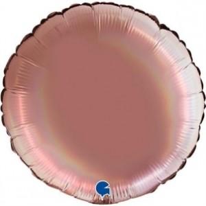 Balão Redondo Platina 46cm Rose