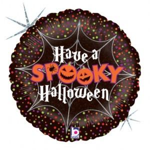 Balão Foil Spooky Halloween Holographic 46Cm