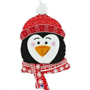 Balão Cabeça Pinguim Inverno 86cm