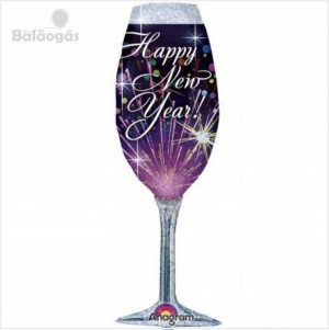 Taça Balão Happy New Year 96cm