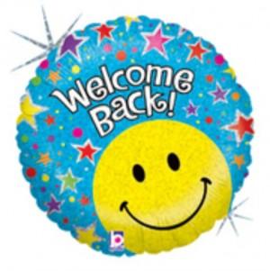 Balão Foil Holographic Welcome  Back 46Cm