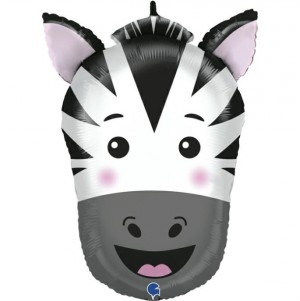 Balão Cabeça Zebra 74cm Grabo