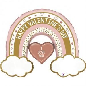 Balão Valentine Rainbow 102cm Grabo