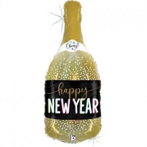Balão Garrafa New Year Champanhe 91cm Grabo