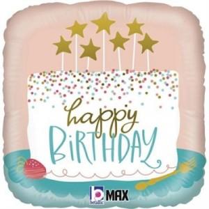 Balão Quadrado Confetti Cake 46Cm Grabo