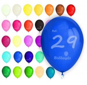 """100 Balões Pastel 10""""/29cm"""