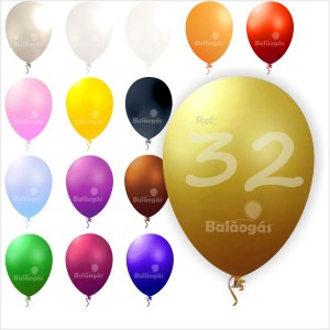 """100 Balões Metalizados 12""""/32cm"""