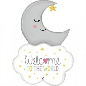 "Balão Welcome Baby Moon 42""/107cm Grabo"