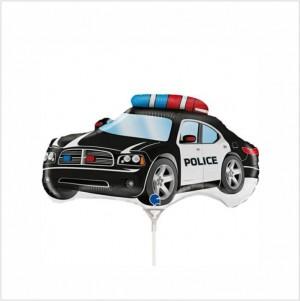 Balão Mini Carro Policia 35cm Grabo