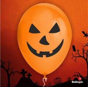 10 Balões Halloween Abobora