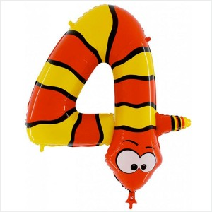 Balão Número 4 Cobra  Gigante