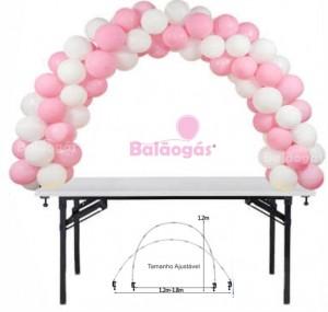 Arcos de  Balões para mesas.