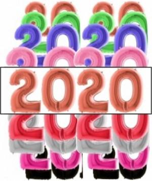 4 Balões Números Gigantes 2020