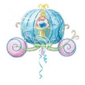 Balão Foil Carruagem da Cinderela 84x59cm R:10911