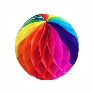 Balão Favos papel Colorido 30cm
