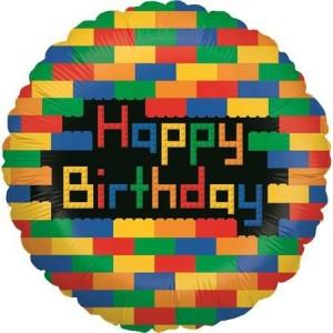 Balão Lego Parabéns  46cm