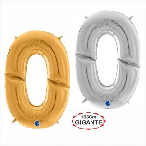 """Balão foil Numero 0 Gigante 64""""/163cm"""