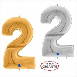 """Balão foil Numero 2 Gigante 64""""/163cm"""