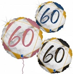 Balão Redondo 60 Marmore 46cm