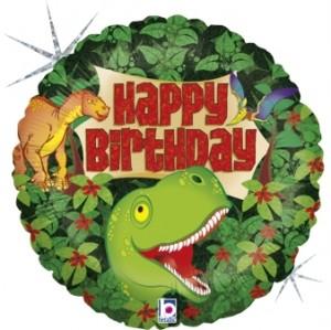 Balão Aniversário Dinosauro 46cm