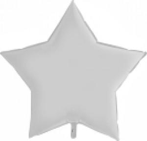 Balão Estrela Cetim 46cm Branca