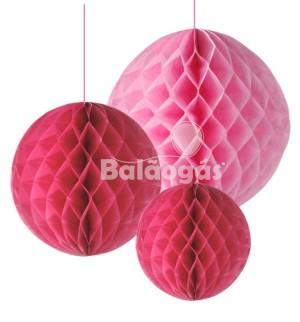 Balão de Papel em Favos Rosa
