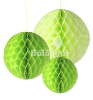 Balão de Papel em Favos Verde Alface