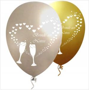 10 Balões Brinde Aos Noivos