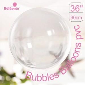 5 Balões Bubble Transparente Cristal 90cm