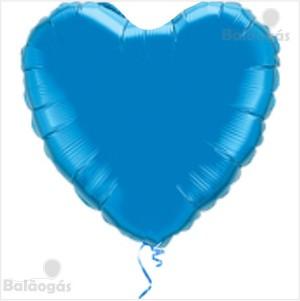 Coração Foil 45cm Azul