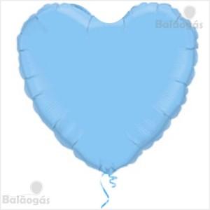 Coração Foil 45cm Azul Bébé
