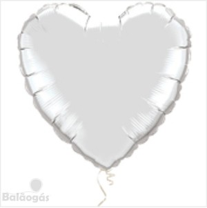 Coração Foil 45cm Branco