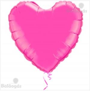Coração Foil 45cm Fuchia