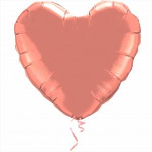 Coração Foil 45cm Rosa gold