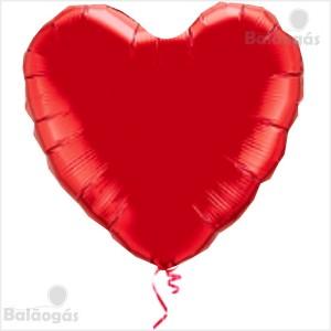 Coração Foil 45cm Vermelho