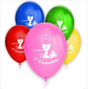 10 Balões Comunhão Cálice (Desenho 2 Faces)