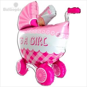 Balão Foil 3D Carrinho Its a Girl 107cm
