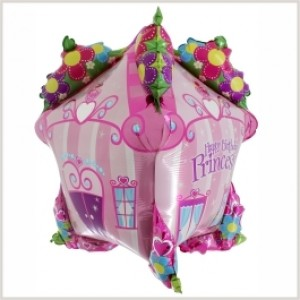 Balão Foil Casa de Princesa 3D 86cm