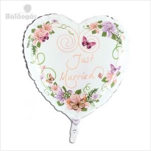 Balão Foil Coração Flores 55cm R.71010
