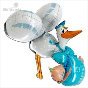 Balão Foil Cegonha 3D 157cm It´s a Boy